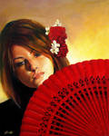 Carmine Flower by PinkParasol