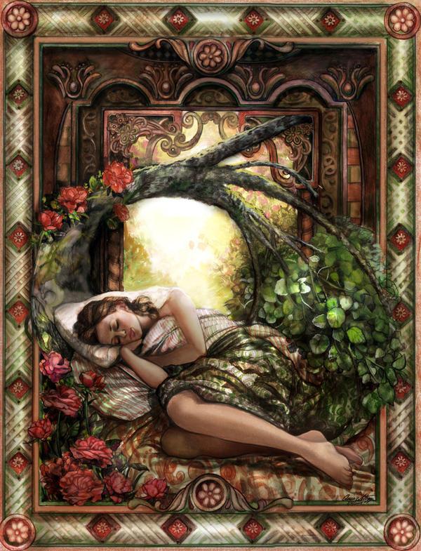 Sleeping Beauty Colored