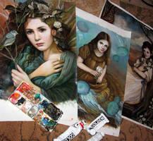 New Paintings Sneak Peak by PinkParasol