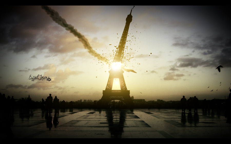 eiffel tower by 1337thriller