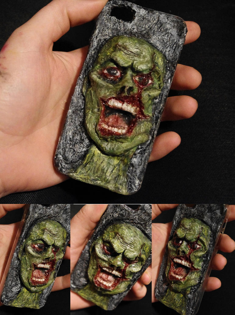 3D Zombie iPhone cover by SometimesAliceFX