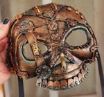 Bronze Steampunk Cyborg Mask