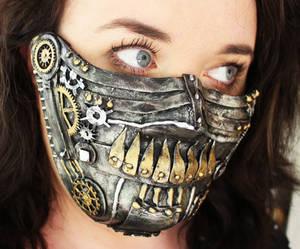 Dystopian/Steam Punk Skull Half Mask