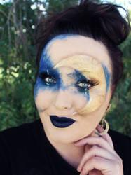Night Sky Masquerade Makeup