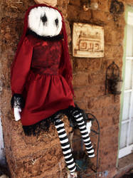 Red Gothic Rag Doll