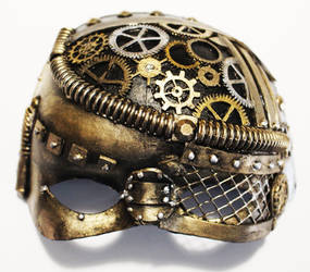 Gold Steampunk Mask