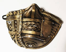 Gold Steampunk Face Mask