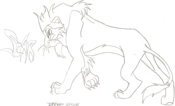 Lion King Scar Sketch By Trypaw44100 On DeviantArt