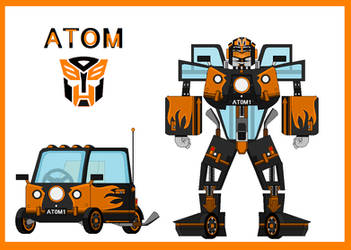 Atom   Micro s twin Peel P50 brother by me  by Micro-the-Autobot