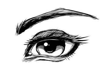 I might be addicted to drawing Eyes... and ink.