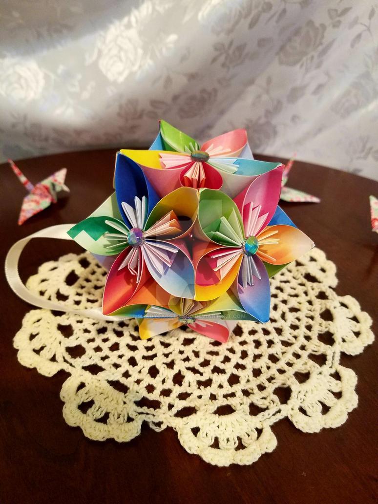Kusudama Origami Flower Ball 28 By Shadycatstudios On Deviantart