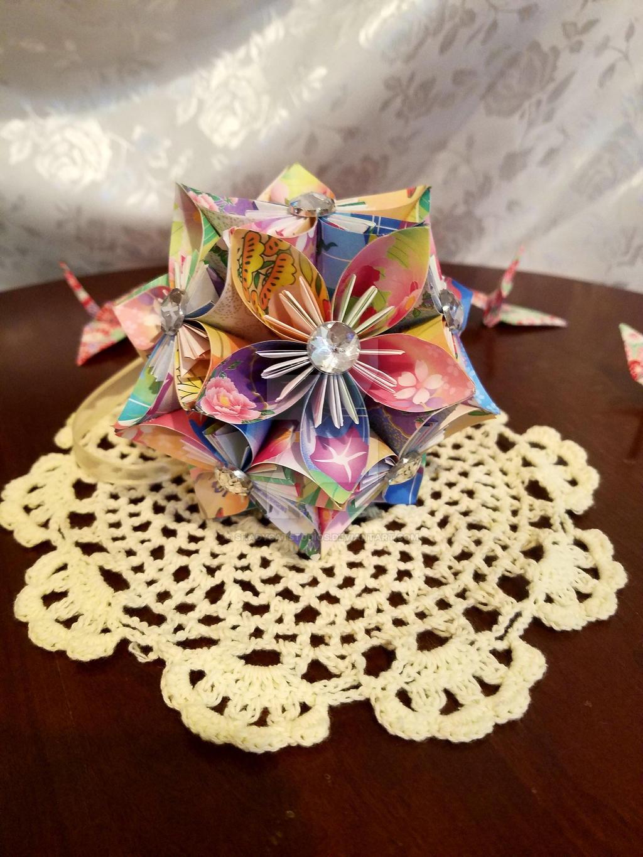 Kusudama Origami Flower Ball 32 By Shadycatstudios On Deviantart
