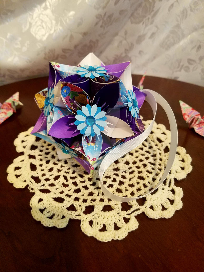 Rarity Kusudama Origami Flower Ball 41 By Shadycatstudios On Deviantart