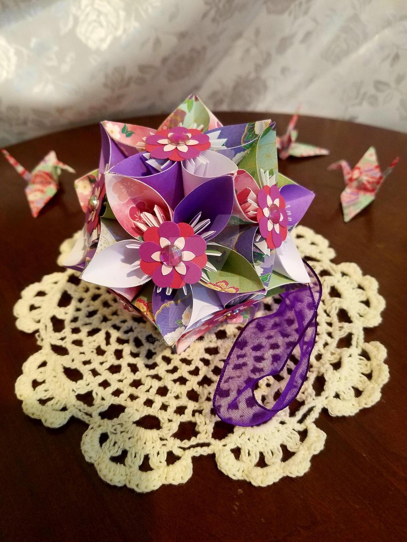 Kusudama Origami Flower Ball 51 By Shadycatstudios On Deviantart