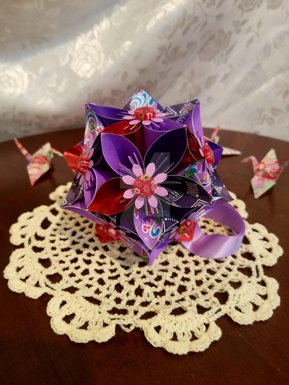 Psychic Kusudama Origami Flower Ball 61 By Shadycatstudios On Deviantart