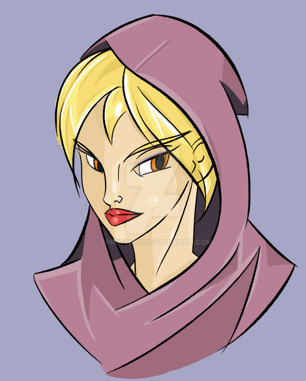 Daily Sketch #1 16-01-2015 - Cartoon Cloaked Woman