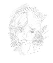 Daily Sketch #11 25-01-2015 - Light Portrait