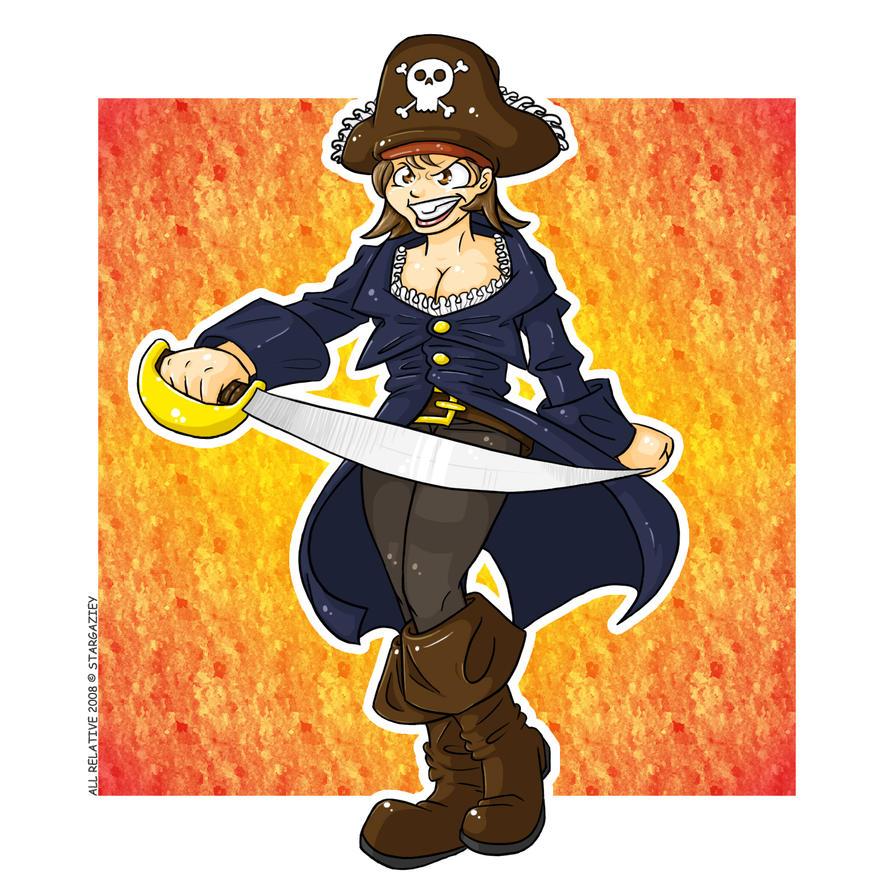 Phanie the Pirate by stargaziey