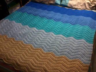 Crochet Ocean Ripple Afghan