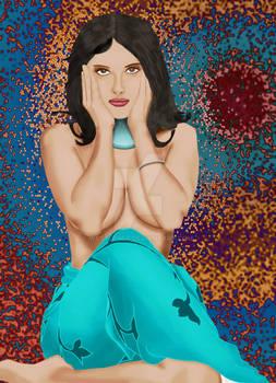 Salma Hayek Pin-up