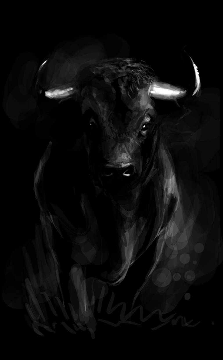 Black bull by SantosArt on DeviantArt
