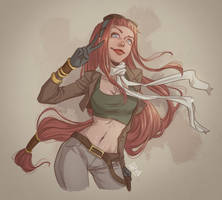 Aine - the sky captain (reloaded) by eserioart