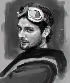 Ben Barnes - digital portrait
