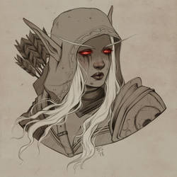 Sylvanas Windrunner - bust commission example