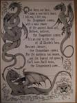 Skyrim - a dragon scroll sketch by NenadJones