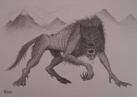 Werewolf sketch by NenadJones