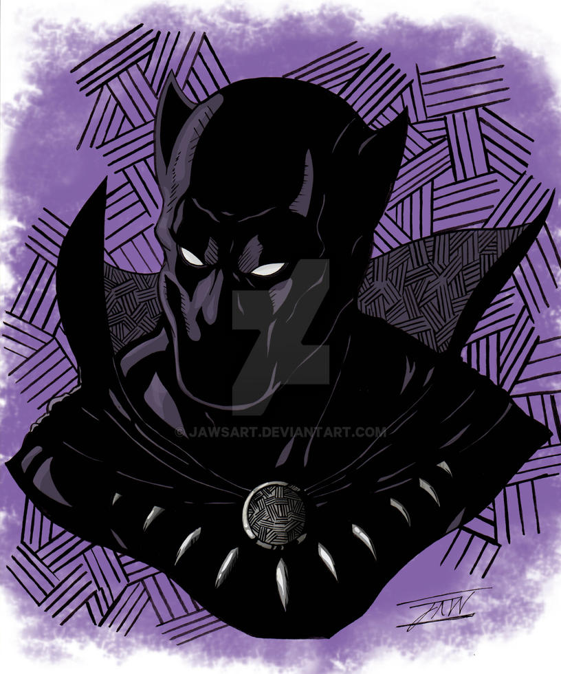 Black Panther Colored by JAWSART