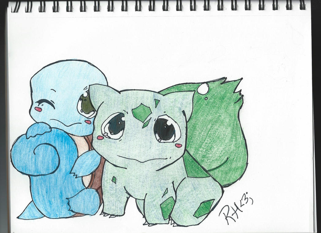 Pokemon Fan Art: Baby Squirtle and Bulbasaur by ...