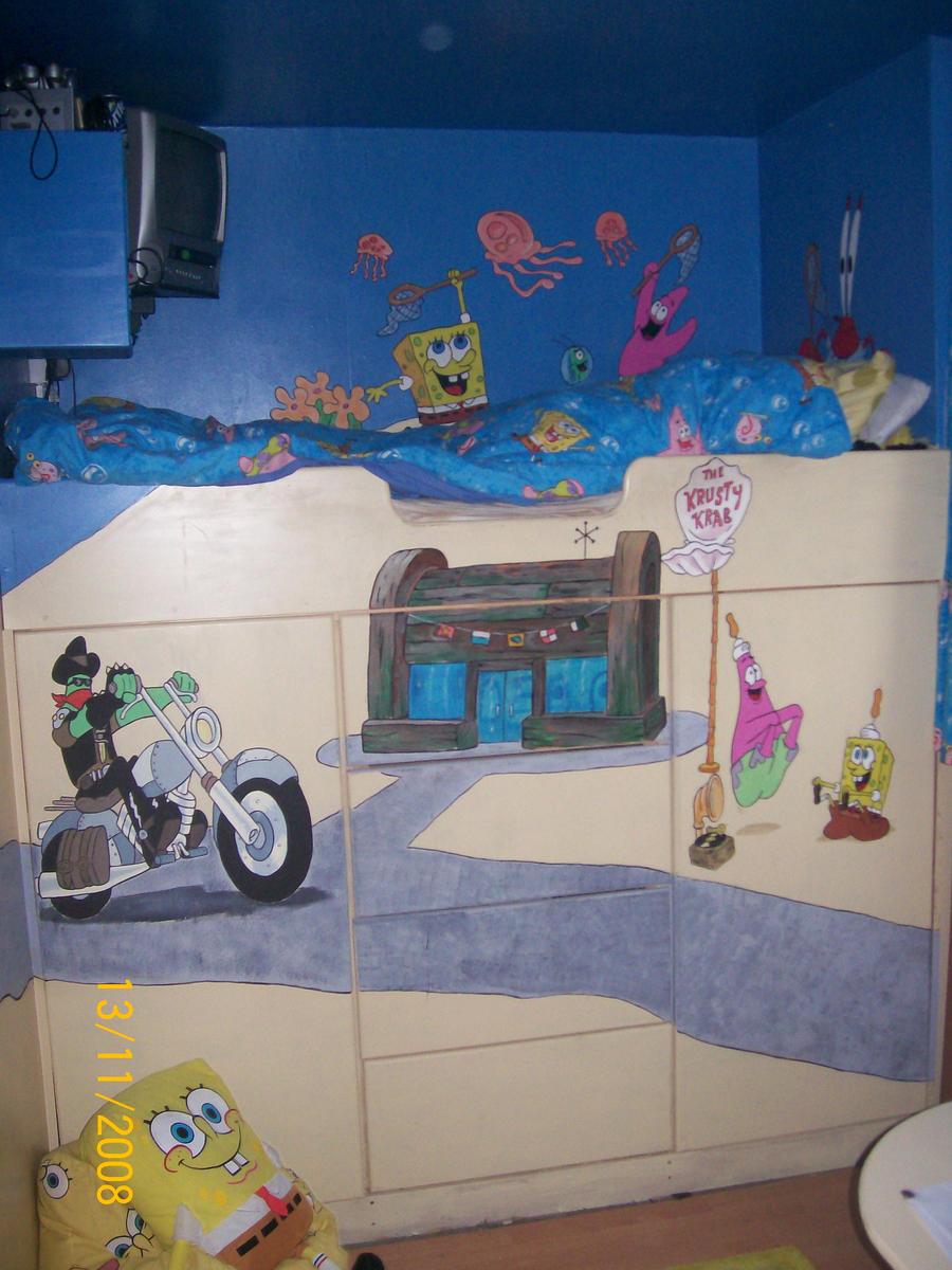 spongebob bedroom mural 3 by pcretouch on deviantart