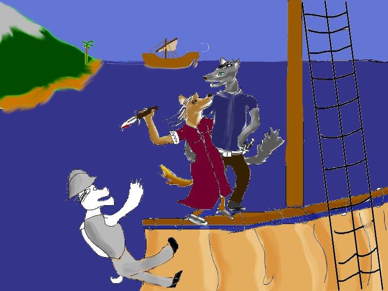 Err... umm... 'art' of anthro pirates
