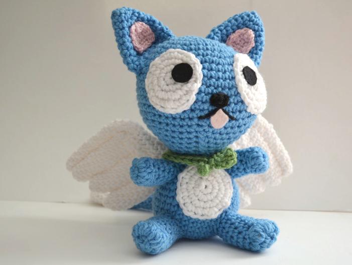 Big Cat Amigurumi : Happy Fairy Tail Cat Amigurumi by Ami-Amour on DeviantArt