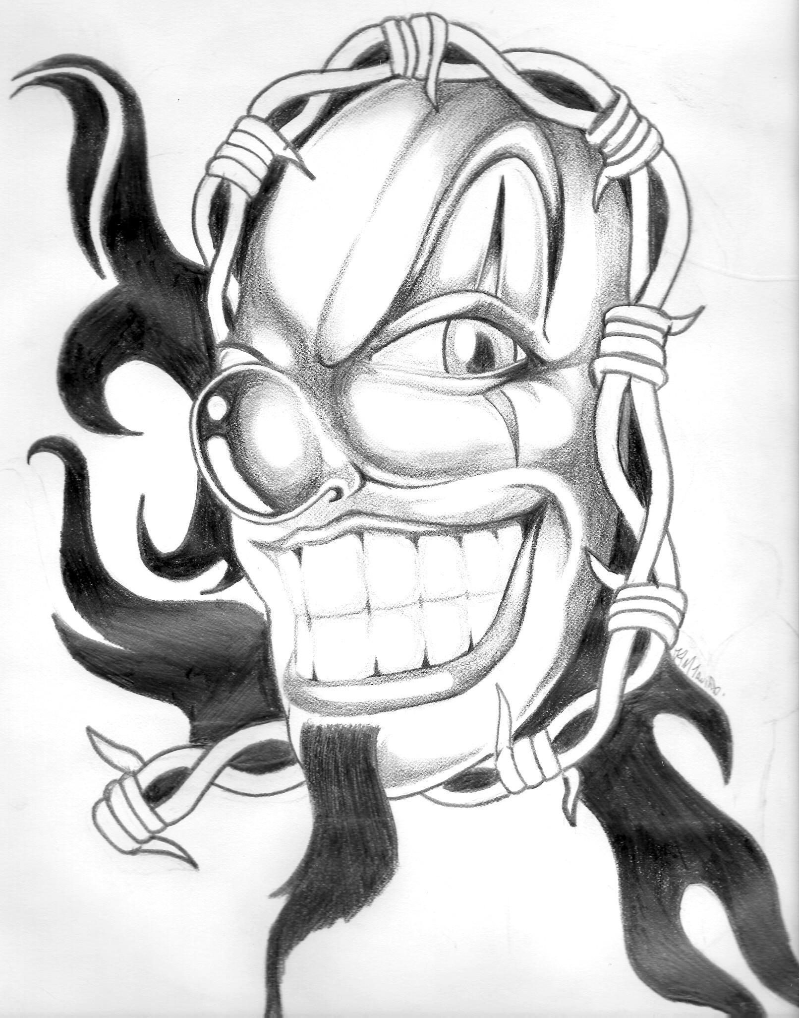 Scary Clown Drawing: Clown By BrokenTear On DeviantArt