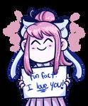 Monika loves u