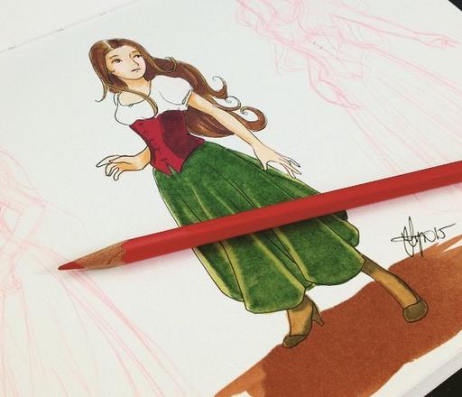 Maiden Sketch by ValerieGallery