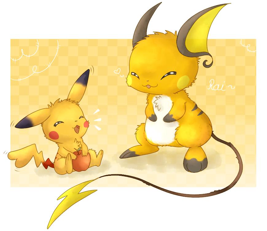 Pikachu and Raichu by fuwante-chan