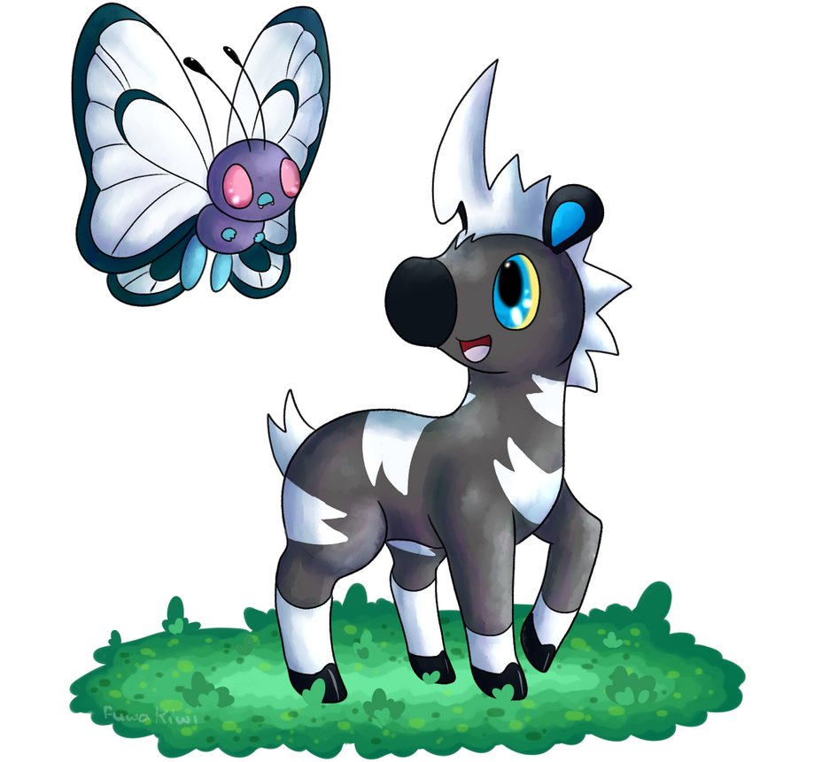Blitzle and Butterfree by KiwiBeagle