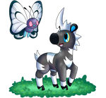 Blitzle and Butterfree by KiwiBeagle