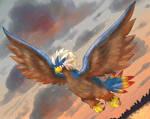 Brave Bird in the morning