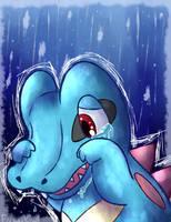 Totodile tears by KiwiBeagle