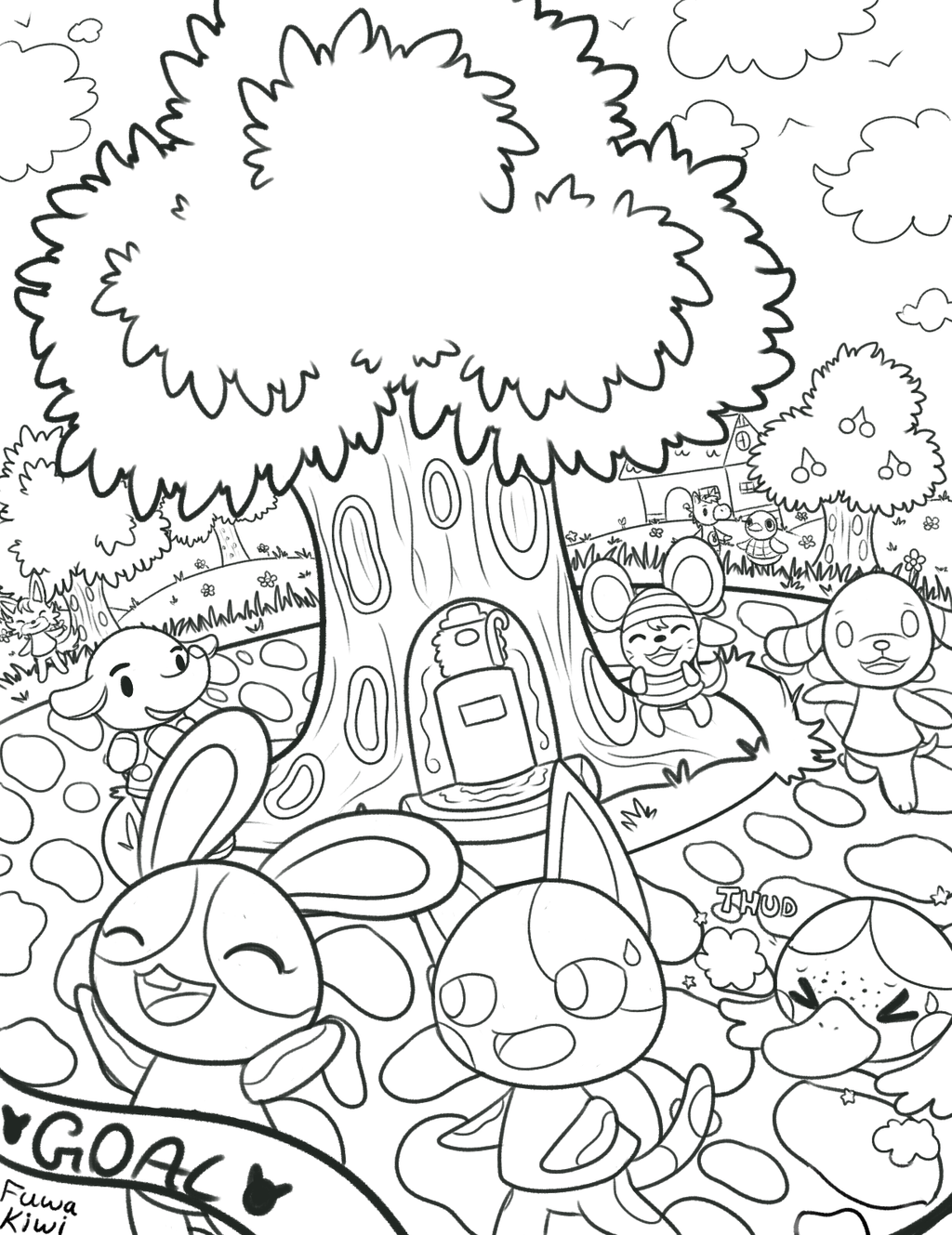fun at sports fair charity coloring book project by kiwibeagle