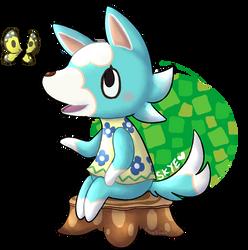 Cute blue wolf Skye by KiwiBeagle
