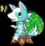 Cute blue wolf Skye