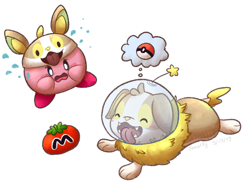 Charity Collab Project - Kirby and Yamper by Tanukky