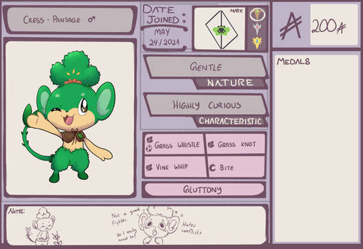 PMD-Outlaw: Cress the Pansage