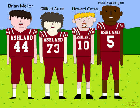 Ashland Tomcats Varsity Football Captains (Scotty)
