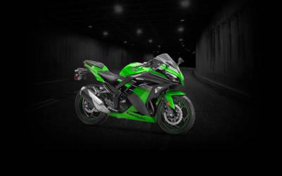 Ninja 300 Green Tunnel Wallpaper - (Unbranded)